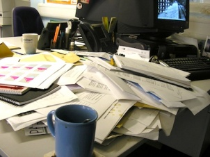 An Overflowing Desk - Too Much To Do!