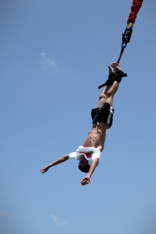 In bungee jumping, it's all about taking the leap