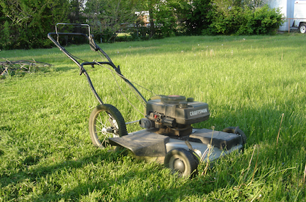 lonely lawnmower
